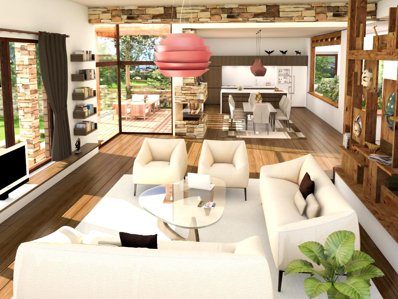 еднофамилна къща ТЕРРА - просторен светъл интериор
